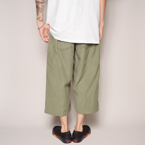 ・US Army×US/60's-70's Vintage Customized Cropped Baker Pants(USアーミー×アス クロップドパンツ)ライトオリーブ [z-1068]