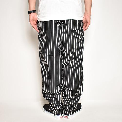 Red Kap/Chef Designs Easy Chef Pants(レッドキャップ イージーパンツ)ブラック×ホワイト ストライプ [a-3576]