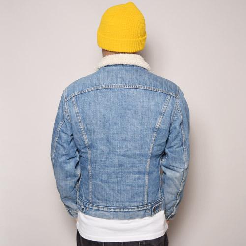 ・Levi's/Denim Boa Jacket(リーバイス デニムボアジャケット)インディゴ/サイズ38 [z-1370]