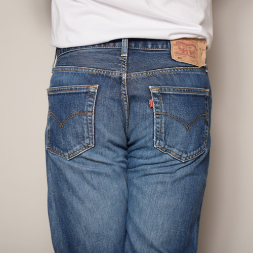 ・Levi's×US/Painted Customized 501 Jeans(リーバイス×アス ペイント501ジーンズ)インディゴ/サイズW32 [z-2931]