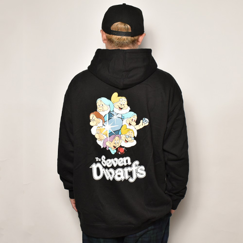 Diamond Supply Co.×Disney/Dwarfs Hoodie(ダイアモンドサプライ×ディズニー スウェットパーカー)ブラック [a-4700]