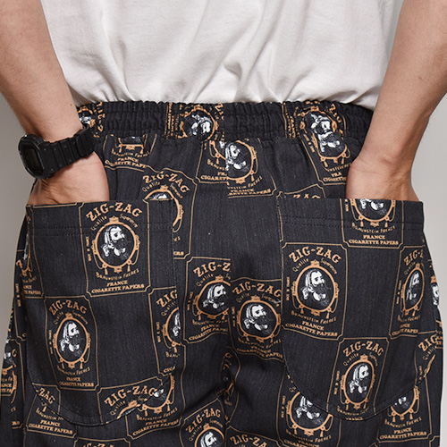 Zig-Zag Easy Pants(ジグザグイージーパンツ)ブラック [a-4963]