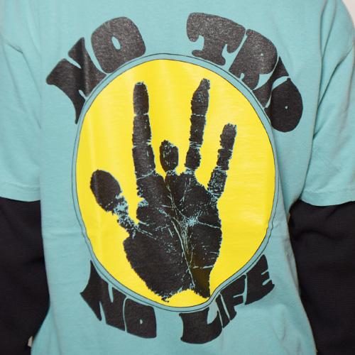 Strange Trip/No Trip No life T-Shirt(ストレンジトリップ Tシャツ)ターコイズ [a-3579]
