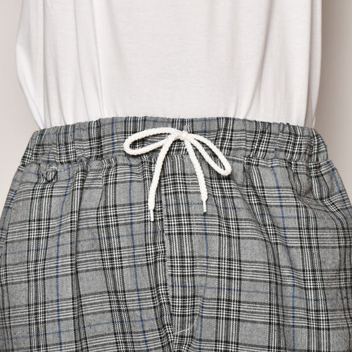 Glen Checked Easy Short Pants(グレンチェックショートパンツ)グレー×ブラック×ブルー [a-3786]