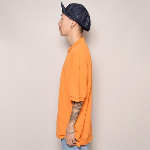 ・Polo Ralph Lauren/Polo Shirt(ラルフローレン ポロシャツ)オレンジ/サイズL [z-0978]