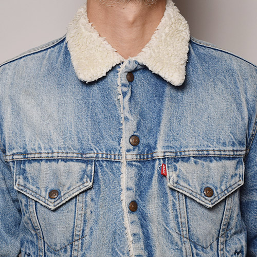 ・Levi's/Denim Boa Jacket(リーバイス デニムボアジャケット)インディゴ/サイズ40 [z-1374]