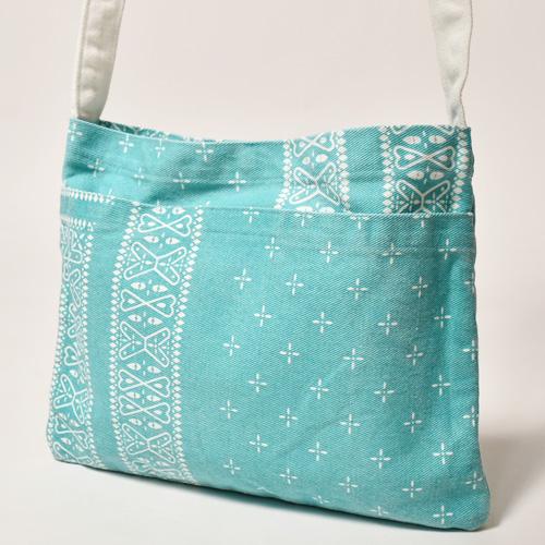 Cross Bandana Patterned Sacoche Bag(クロスバンダナ サコッシュバッグ)ティファニーブルー [a-3911]
