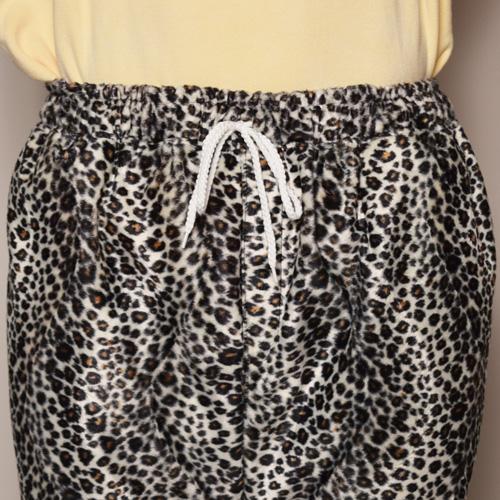 Fake Fur White Leopard Easy Pants(フェイクファーホワイトレオパードイージーパンツ)ホワイトレオパード [a-3362]