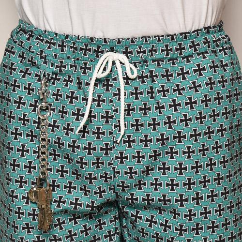Iron Cross Easy Short Pants(アイアンクロスイージーショートパンツ)エメラルドグリーン [a-3973]