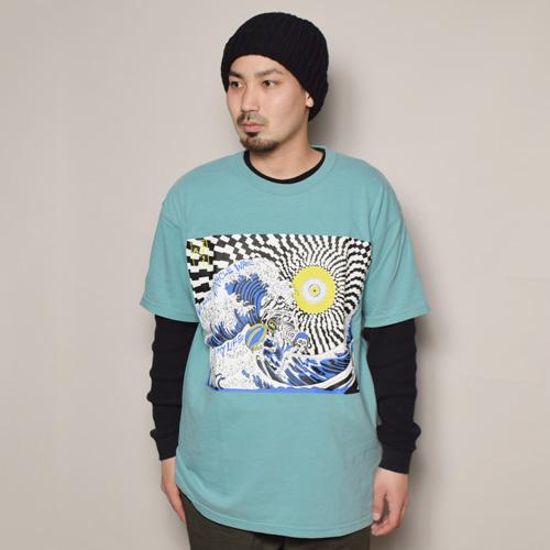 Strange Trip/Psychedelic Surfer T-Shirt(ストレンジトリップ Tシャツ)ターコイズ [a-3585]