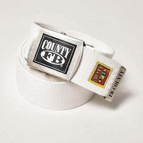 FB County/Cotton Web Belt(エフビーカウンティ ウェブベルト)ホワイト [a-4970]