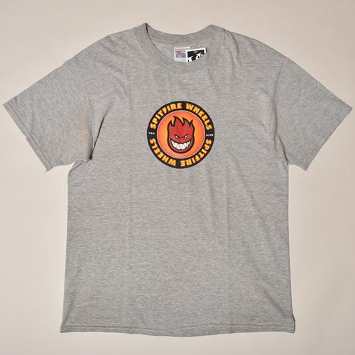 ・Spitfire Wheels/Vintage&Old Skate T-Shirt(スピットファイア ヴィンテージTシャツ)ヘザーグレー/サイズL [z-3620]