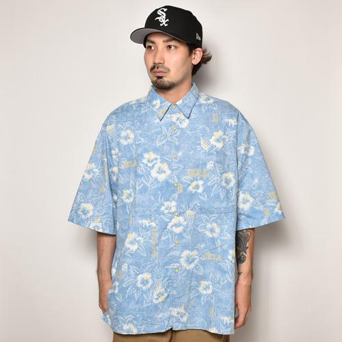 ・Reyn Spooner/Vintage Aloha Shirts(レインスプーナー アロハシャツ)ライトブルー×ホワイト/サイズXL [z-4225]