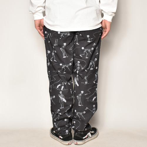 Multi Sporting Skull Easy Pants(スポーティングスカルイージーパンツ)ブラック×グレー [a-4669]