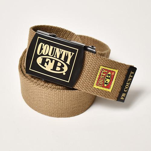 FB County/Cotton Web Belt(エフビーカウンティ ウェブベルト)ブラウン [a-4971]