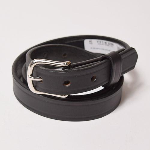 Boston Leather/1inch Leather Belt(ボストンレザー レザーベルト)ブラックプレーン [a-1101]