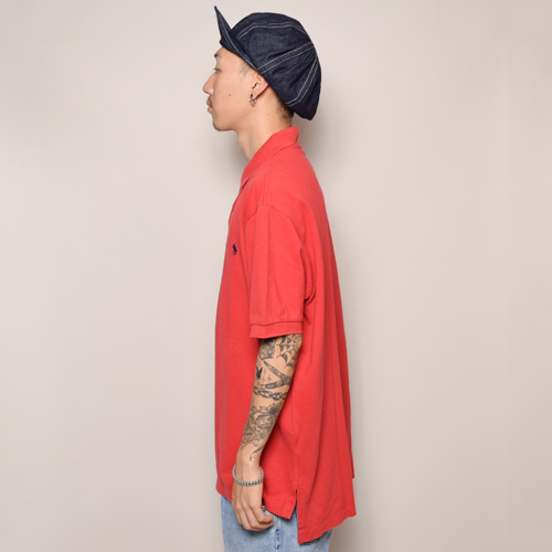 ・Polo Ralph Lauren/Polo Shirt(ラルフローレン ポロシャツ)レッド/サイズL [z-0985]