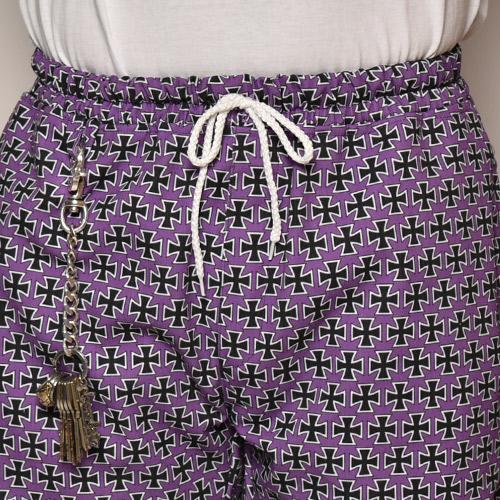 Iron Cross Easy Short Pants(アイアンクロスイージーショートパンツ)パープル [a-3976]