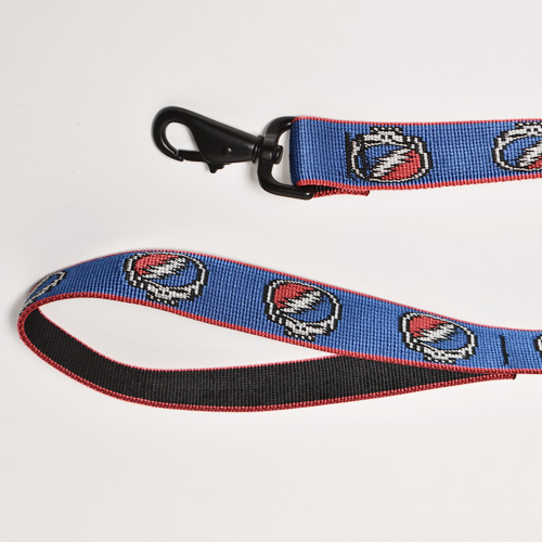 Bison Designs×Grateful Dead/Steal Your Face Dog Lead(バイソン×グレイトフルデッド ドッグリード)ブルー×レッド [a-4817]