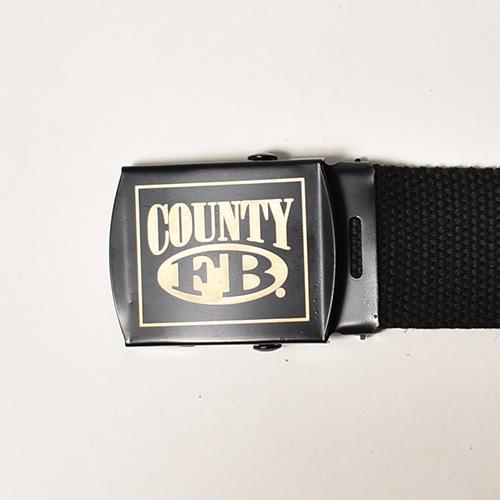 FB County/Cotton Web Belt(エフビーカウンティ ウェブベルト)ブラック [a-4972]
