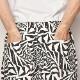 Crazy Spiral Patterned Easy Short Pants(クレイジースパイラルイージーショートパンツ)ホワイト×ブラック [a-3977]