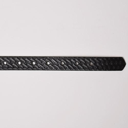 Boston Leather/1inch Leather Belt(ボストンレザー レザーベルト)ブラックバスケットウィーブ [a-1103]