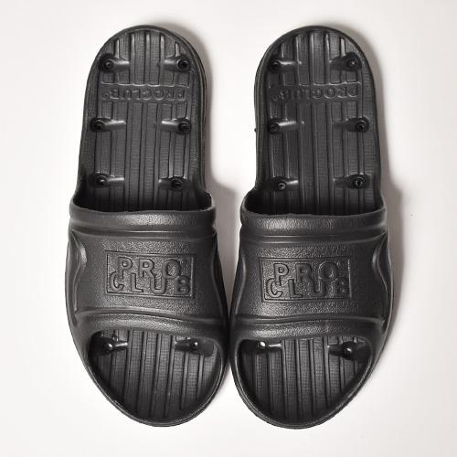 Pro Club/Rubber Slide Sandals(プロクラブ サンダル)ブラック [a-4871]