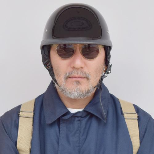 The American Novelty Helmet/Jockey Style(アメリカンノベルティーヘルメット ジョッキー)ハイグロスブラック[n-6368]