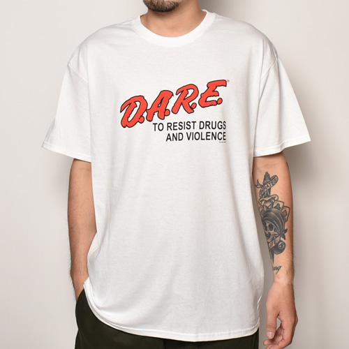 D.A.R.E./S/S T-Shirt(ドラッグレジスタンス Tシャツ)ホワイト [a-3863]