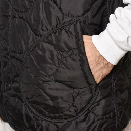 ・US Army×US/Civilian M-65 Quilted Liner Vest(USアーミー×アス キルティングライナーベスト)ブラック [z-4441]