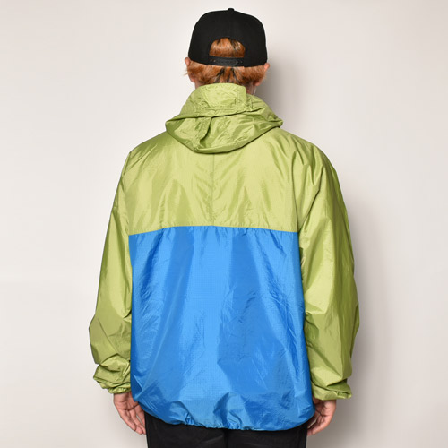 ・Patagonia/Nylon Anorak Jacket(パタゴニア ナイロンジャケット)ライトグリーン×ブルー/サイズXL [z-4572]
