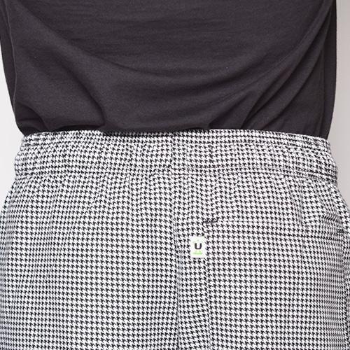 Uncommon Threads/Baggy Chef Pants(アンコモンスレッズ バギーシェフパンツ)ホワイト×ブラック [a-1798]