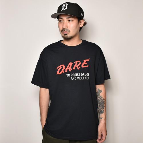 D.A.R.E./S/S T-Shirt(ドラッグレジスタンス Tシャツ)ブラック [a-3864]