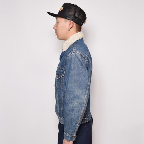 ・Levi's/Denim Boa Jacket(リーバイス デニムボアジャケット)インディゴ/サイズS [z-0385]