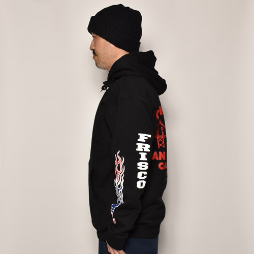 415 Clothing/Frisco No.1 Pullover Hoodie(415クロージング スウェットパーカー)ブラック [a-1475]