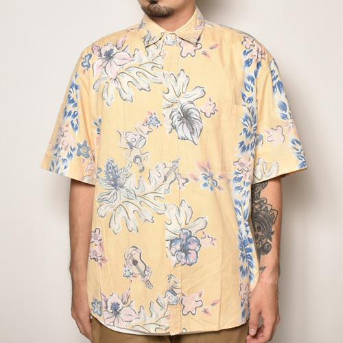 ・Reyn Spooner/Vintage Aloha Shirts(レインスプーナー アロハシャツ)イエロー×ピンク×ブルー/サイズM [z-4232]