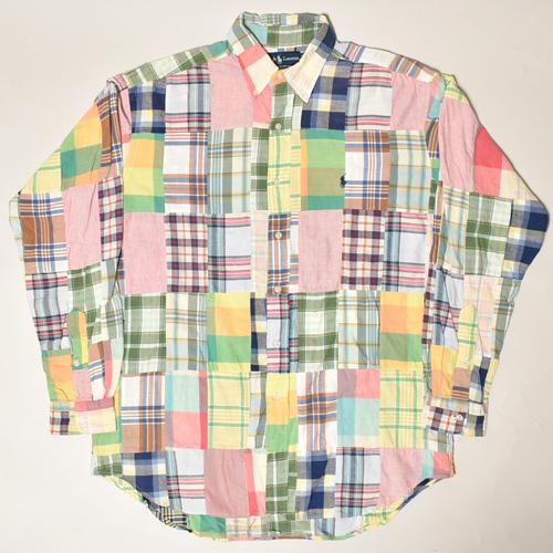 ・Polo Ralph Lauren/L/S Patchwork Shirt(ラルフローレン パッチワークシャツ)サイズM [z-3387]