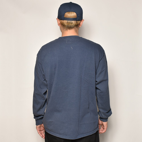 Towncraft/L/S Vintage Faded T-Shirt(タウンクラフト Tシャツ)ネイビー [a-3983]