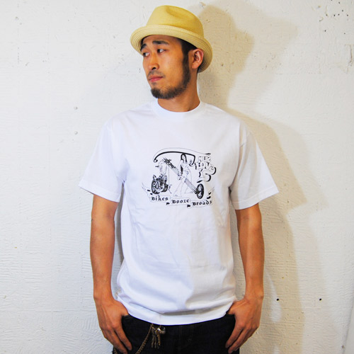 Bandit Brand×WTF×US/Hells Angels Artwork True love is T-shirt(バンディットブランド×ダブルティーエフ×アス Tシャツ)ホワイト [n-5421]