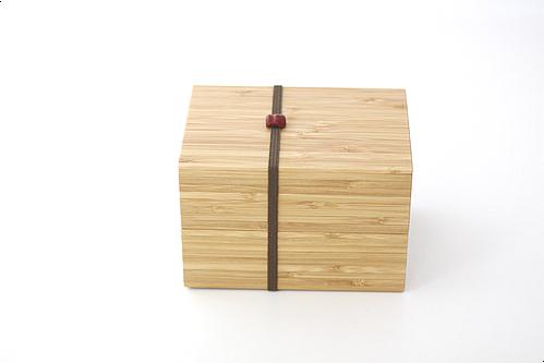 二段弁当箱 赤