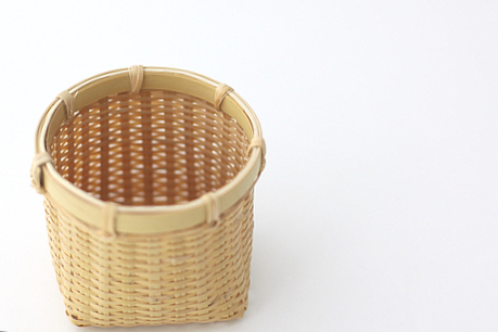 丸ふきん籠 白竹 KR95
