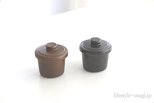 ヴァプール蒸し碗(黒焦げ茶)