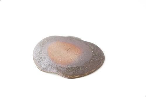 Tテツサン45 鉄散りんご皿 大 [白]