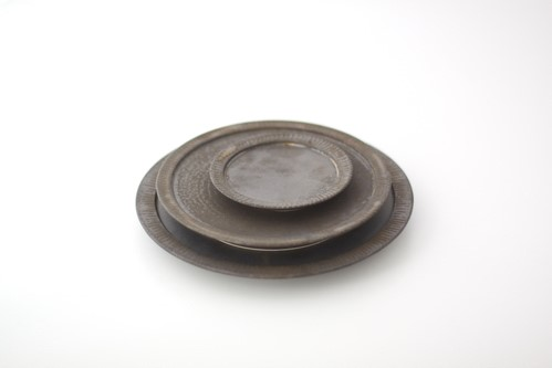 shiro-kuro 3寸皿 (黒)