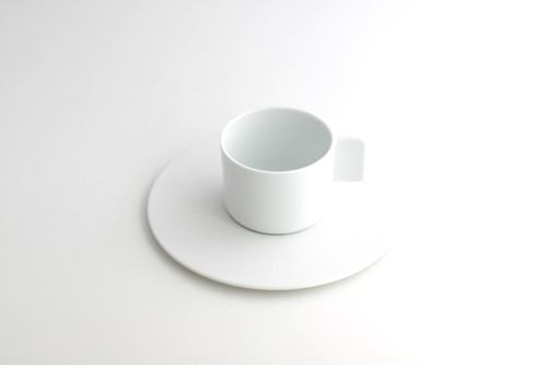 S&B Coffee Cup&Saucer White
