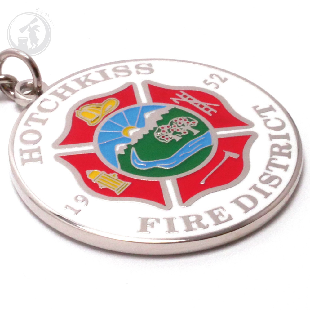 送料無料 HOTCHKISS FIRE DISTRICT KEYCHAINS キーホルダー 寄付