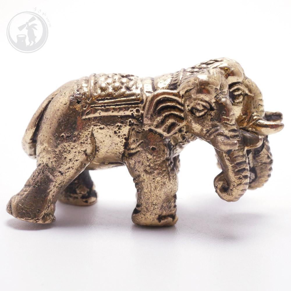 タイ 王国 製 神象 エーラーワン アイラーヴァタ 真鍮製 置物 お守り
