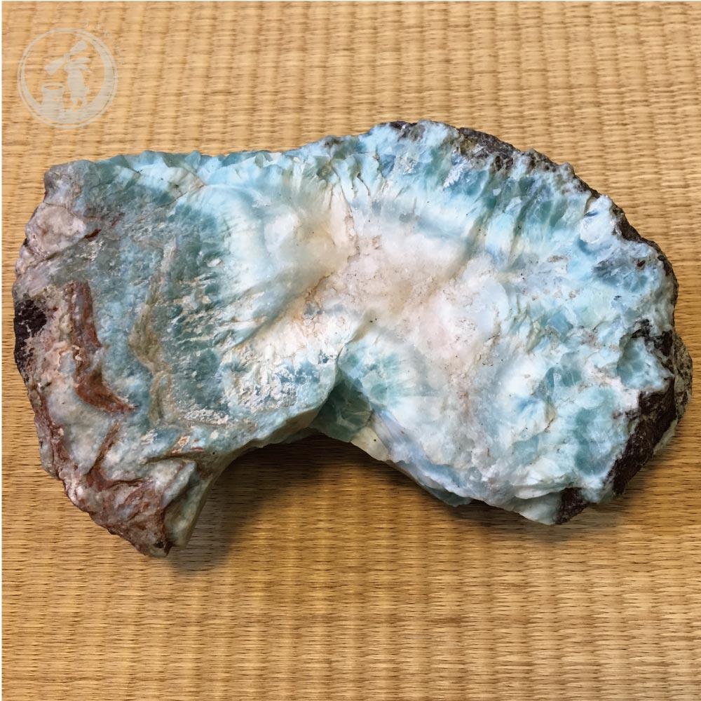 超特価 ラリマー原石(母岩付き) 約986g