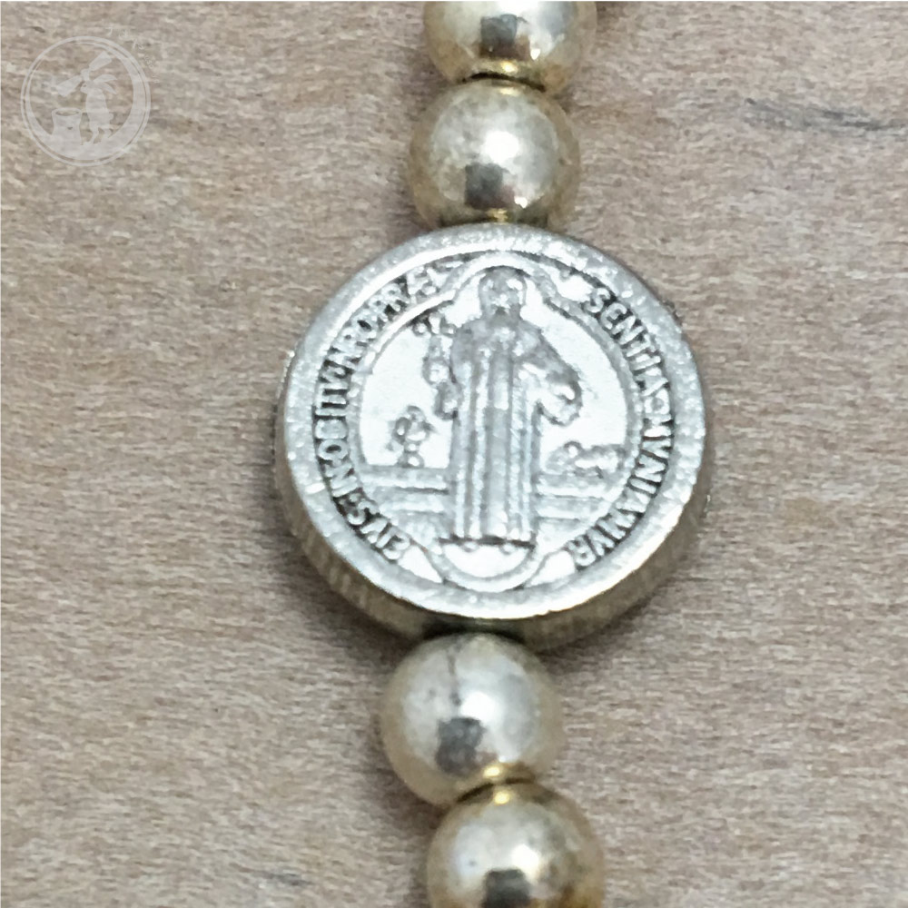 イタリア製 聖ベネディクトのブレスレット(イエロー) サンタントニオ聖堂 直輸入