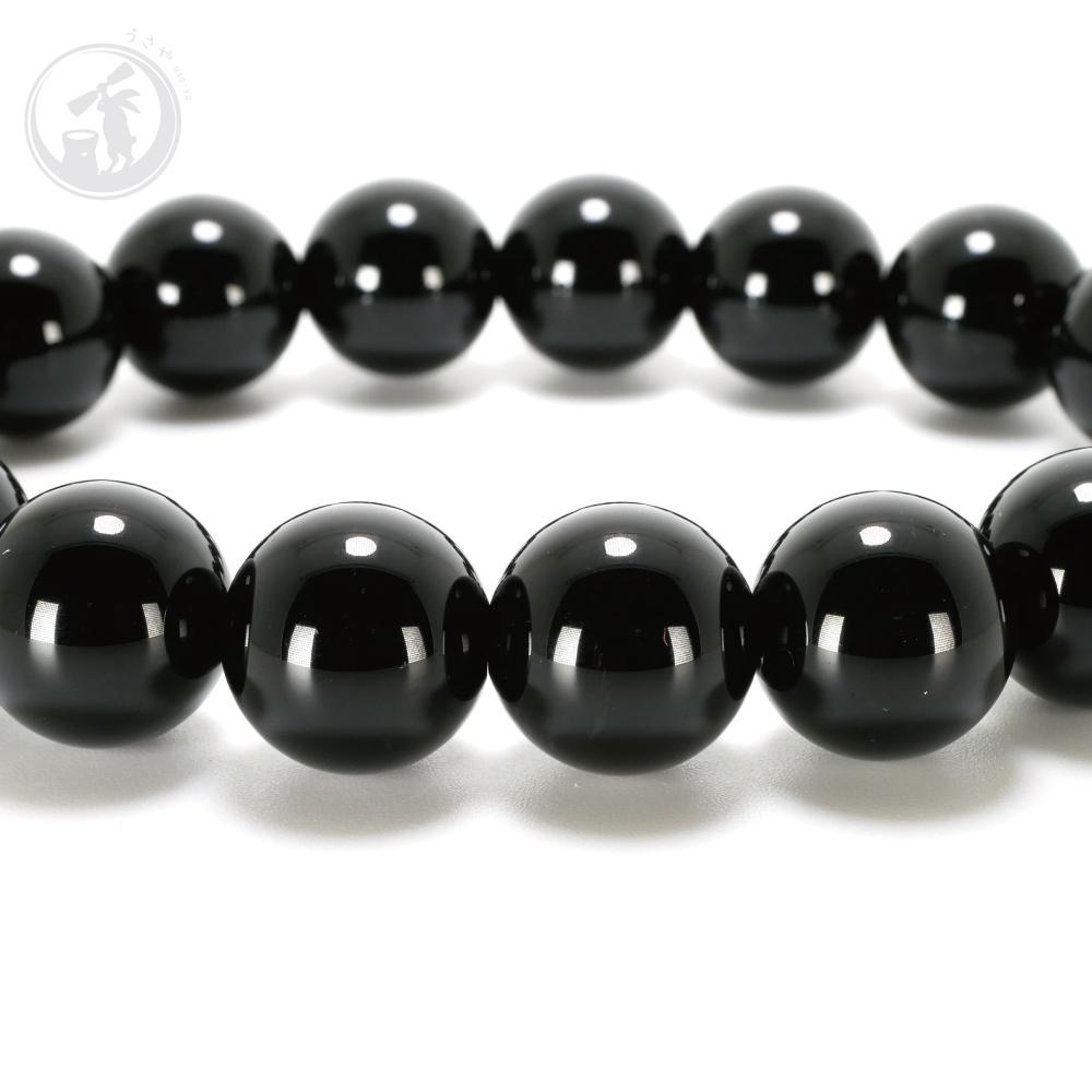 鑑別済み 天然 黒水晶 モリオン AAA 12mm ブレスレット